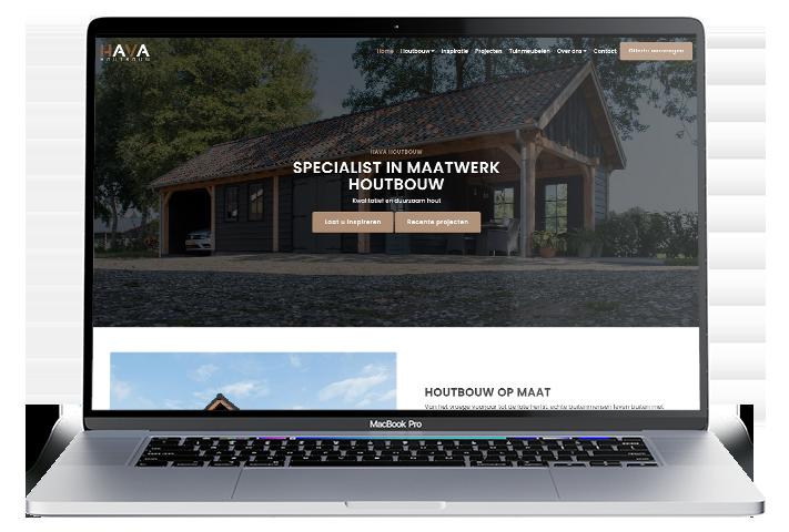 Website HAVA Houtbouw